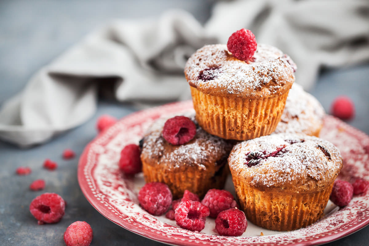 Quick and Easy Raspberry Muffins